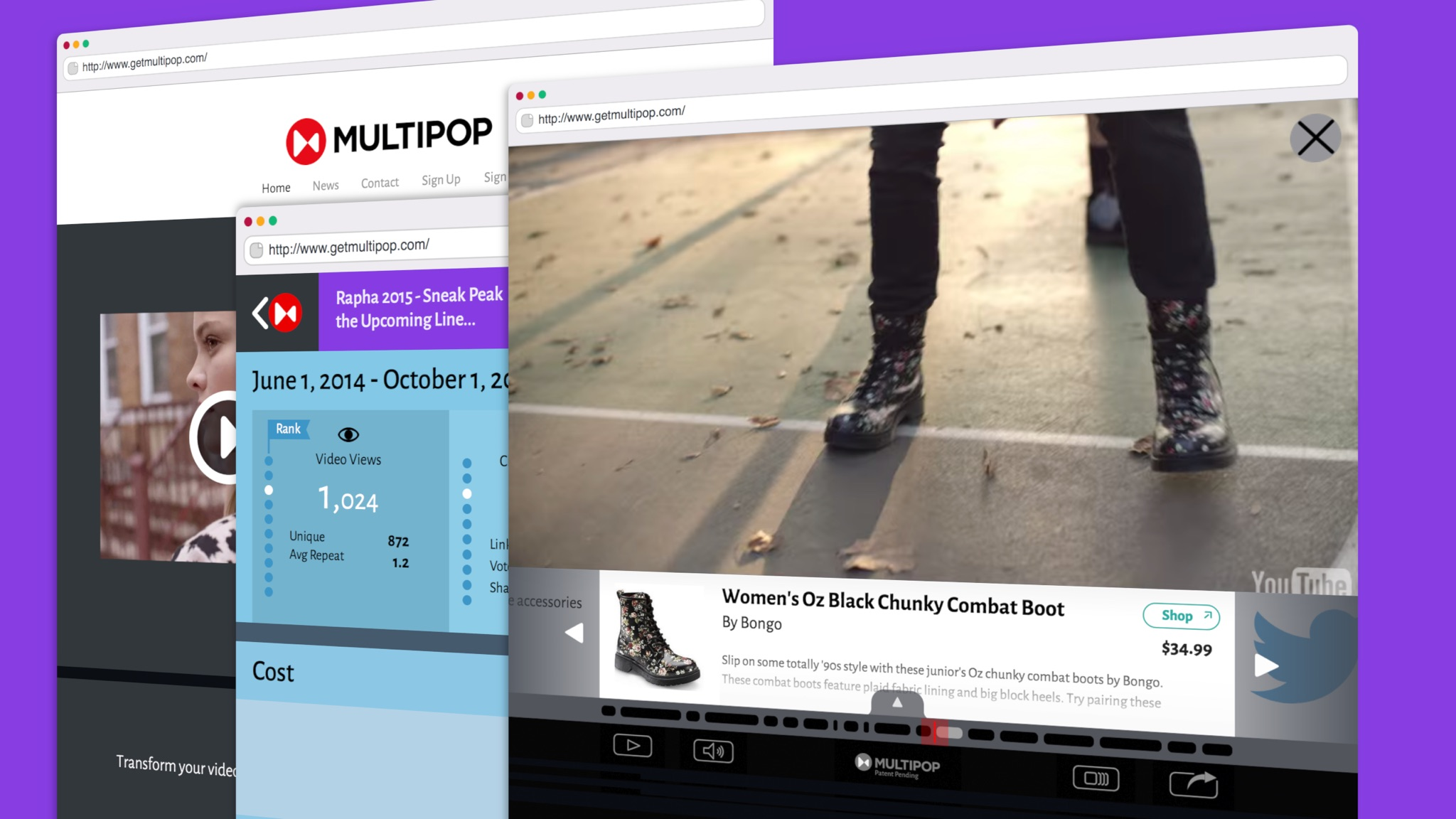 Multipop transforms video with interactive content.